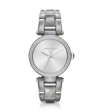 Michael Kors Delray Pave Silver Tone Watch