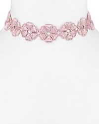 Baublebar Daisy Choker Necklace 11.5 Dusty Pink