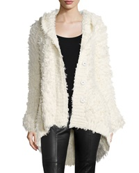 Atm Cozy Cardigan With Hood Ivory