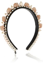 Finds Elephant Agate Bead And Pearl Headband