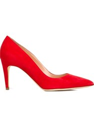 Rupert Sanderson Pointed Toe Pumps Red
