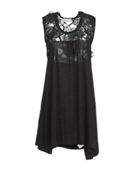 Crumpet Short Dresses Black