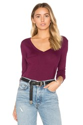 Bobi Light Weight Jersey Front Pocket Long Sleeve Top Fuchsia