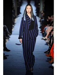 Alexis Mabille Wide Trousers In Sports Stripes Blue