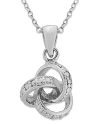 Victoria Townsend Sterling Silver Necklace Diamond Accent Love Knot Pendant