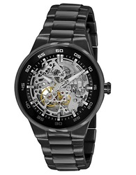 Kenneth Cole Automatic Watch With Skeleton Dial Black