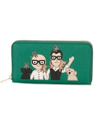 Dolce And Gabbana Designers Patch Wallet Green