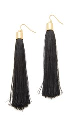 Adia Kibur Zoe Tassel Earrings Black