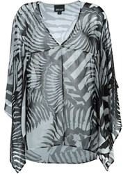 Just Cavalli Sheer Printed Kaftan Black