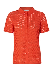 Dickins And Jones Brodie Blouse Top Coral