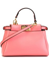 Fendi Micro 'Peekaboo' Crossbody Bag Pink And Purple