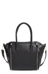 Sole Society 'Kaylen' Faux Leather Crossbody Satchel Black