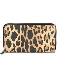 Givenchy Leopard Print Wallet Nude And Neutrals