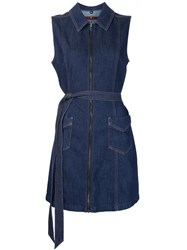 7 For All Mankind Denim Mini Dress Blue