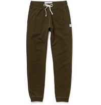 Reigning Champ Slim Fit Tapered Loopback Cotton Jersey Sweatpants Green