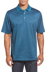 Men's Bugatchi Tipped Mercerized Cotton Polo Sapphire