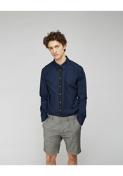 Peter Jensen Contrast Placket Shirt Navy