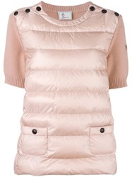Moncler Grenoble Padded Knitted Top Pink Purple
