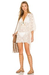Blue Life Tribal Caftan Cream