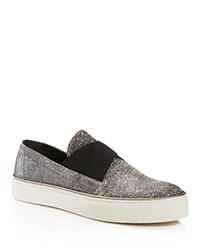 Stuart Weitzman Flex Elasticized Slip On Sneakers Pyrite