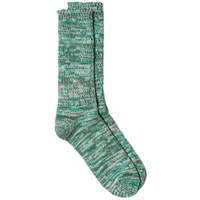 Anonymous Ism Colour Mix Crew Sock Green