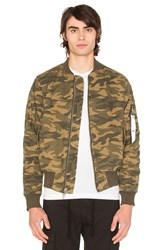 Stampd Camo Washed Bomber Green