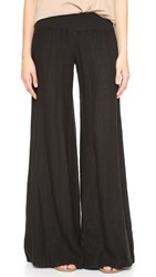 Enza Costa Linen Wide Leg Pants Faded Black