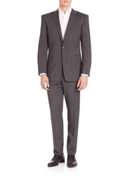 Polo Ralph Lauren Solid Two Button Wool Suit Black Grey