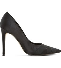Dune Archivve Pointed Satin Courts Black Satin