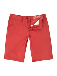 Blend Of America Canvas Shorts Red