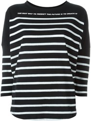 Each X Other Striped Dolman Sleeve Sweater Black
