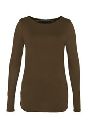 Hallhuber Long Sleeve With Bat Neckline Green
