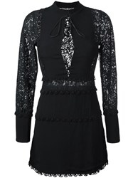 For Love And Lemons Lace Sleeve Mini Dress Black