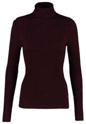 New Look Jumper Dark Burgundy Dark Red