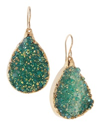 Devon Leigh Blue Druzy Foil Teardrop Earrings