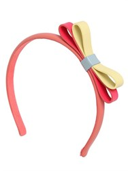 Red Valentino Leather Headband With Bow Detail