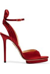 Charlotte Olympia Wallace Satin Sandals