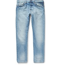 Valentino Slim Fit Washed Denim Jeans Blue
