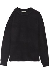 Tibi Cutout Knitted Sweater Navy