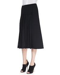 Donna Karan Midi Mid Calf Pleated Wrap Skirt