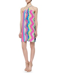 Alice And Trixie Sleeveless Halter Striped Trapeze Dress