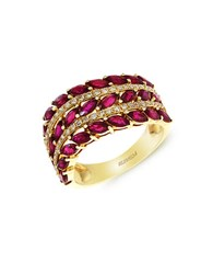 Effy Diamond And Ruby 14K Yellow Gold Ring Ruby Gold