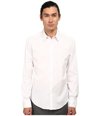 Theory Sylvain White Men's Long Sleeve Button Up