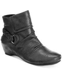 Bare Traps Sana Hidden Wedge Booties Women's Shoes Black