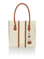 Dickins And Jones Tamerton Cut Out Tote Handbag Cream