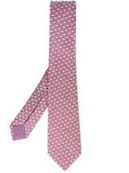Bulgari Coffee Print Neck Tie Pink And Purple