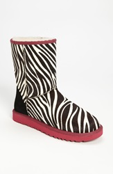 Ugg 'Classic Short' Boot Women Exclusive Color Zebra Ruby