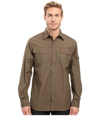 Fjall Raven Singi Trekking Shirt Tarmac Men's Short Sleeve Button Up Olive