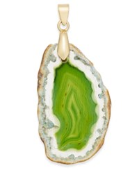 Inc International Concepts Gold Tone Green Agate Stone Charm Only At Macy's