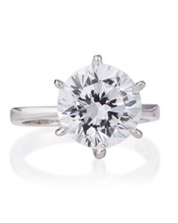Fantasia Round Cut Solitaire Cz Ring Women's
